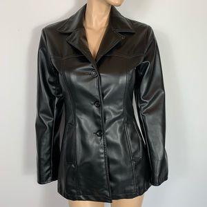 BB Dakota Black PVC Jacket Vinyl Blazer